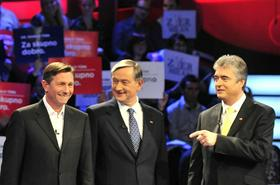 Borut Pahor, Danilo Trk, Milan Zver