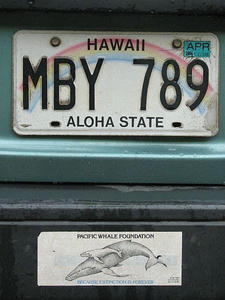 Havajska registrska tablica