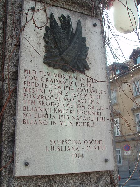 Napis na Šentjakobskem mostu